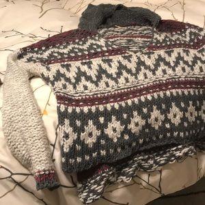 FREE PEOPLE Tribal print sweater
